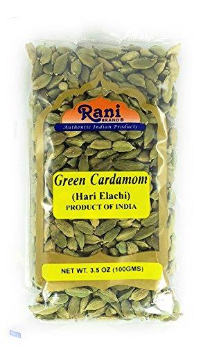 Rani Green Cardamom Pods Spice (Hari Elachi) 3.5oz (100g) ~ All Natural | Vegan | Gluten Friendly | NON-GMO | Product of India