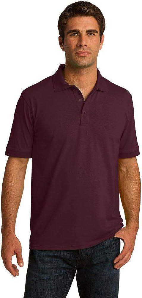 Port & Company Tall 5.5-Ounce Jersey Knit Polo Shirt, Athletic Maroon, XLT