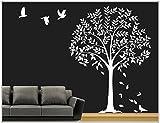 Deco-idea Sticker Mural Arbre Branches vrille Salle de séjour,Salon 40 Couleurs pour...