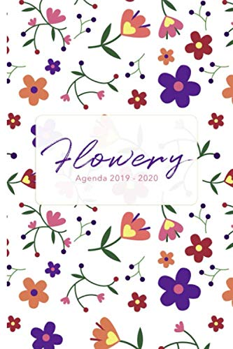 Flowery Agenda - Agenda settimanale 18 mesi 2019 - 2020,...