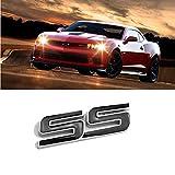 D28JD SS emblème de Logo pour Autocollant Lettres métalliques Carrosserie pour C-hevrolet Camaro,Noir