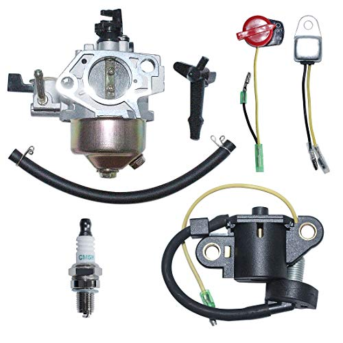 Review Of AUMEL Carburetor Carb Oil Sensor Alert Switch Spark Plug Kit for Honda GX390 13HP Lawn Mow...