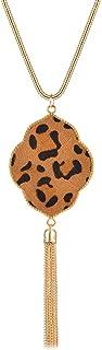 Best leopard pendant necklace Reviews