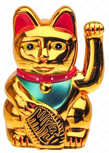 Gold Waving Lucky Fortune Cat Maneki (6')