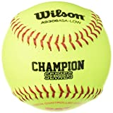 Wilson A9306 ASA Series Softball (12-Pack), 11-Inch, Optic Yellow
