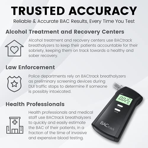 BACtrack Alcoholímetro S80   Precisión de grado profesional   Aprobado por DOT y NHTSA   FDA 510 (k) aprobado   Probador de alcohol portátil para uso personal y profesional