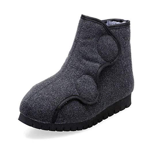 Hombre Sandalias Diabéticas,Zapato de Tela Ajustable para diabéticos,Zapatos de Mujer con pie gordo-37,Unisex-Adulto Calzado de Salud