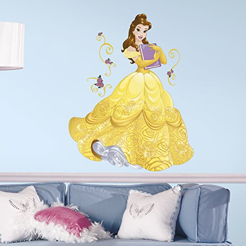 RoomMates Disney Princess Sparkling Belle Peel And Stick Giant Wall DecalsMulticolor
