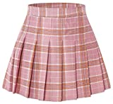 "Toddler Little & Big Girls' Pleated School Uniform Plaid Short Skirt, Pink Plaid, 11-12 Years/Height 63.0"" = Tag 160"