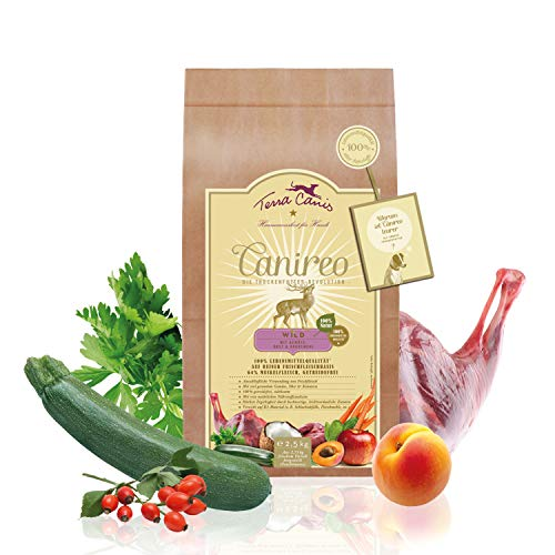 Terra Canis Canireo Die Trockenfutter Revolution; Wild, Gemüse, Obst & Kokosmehl in 100%iger Lebensmittelqualität der Rohstoffe; 64% Frischfleisch, getreidefrei & glutenfrei, 2,5kg Premium Hundefutter