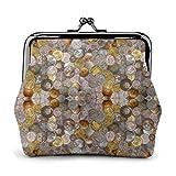 Portafoglio in pelle monete vittoriane con fibbia portamonete con fibbia portamonete vintage borsa per il cambio Kiss-lock