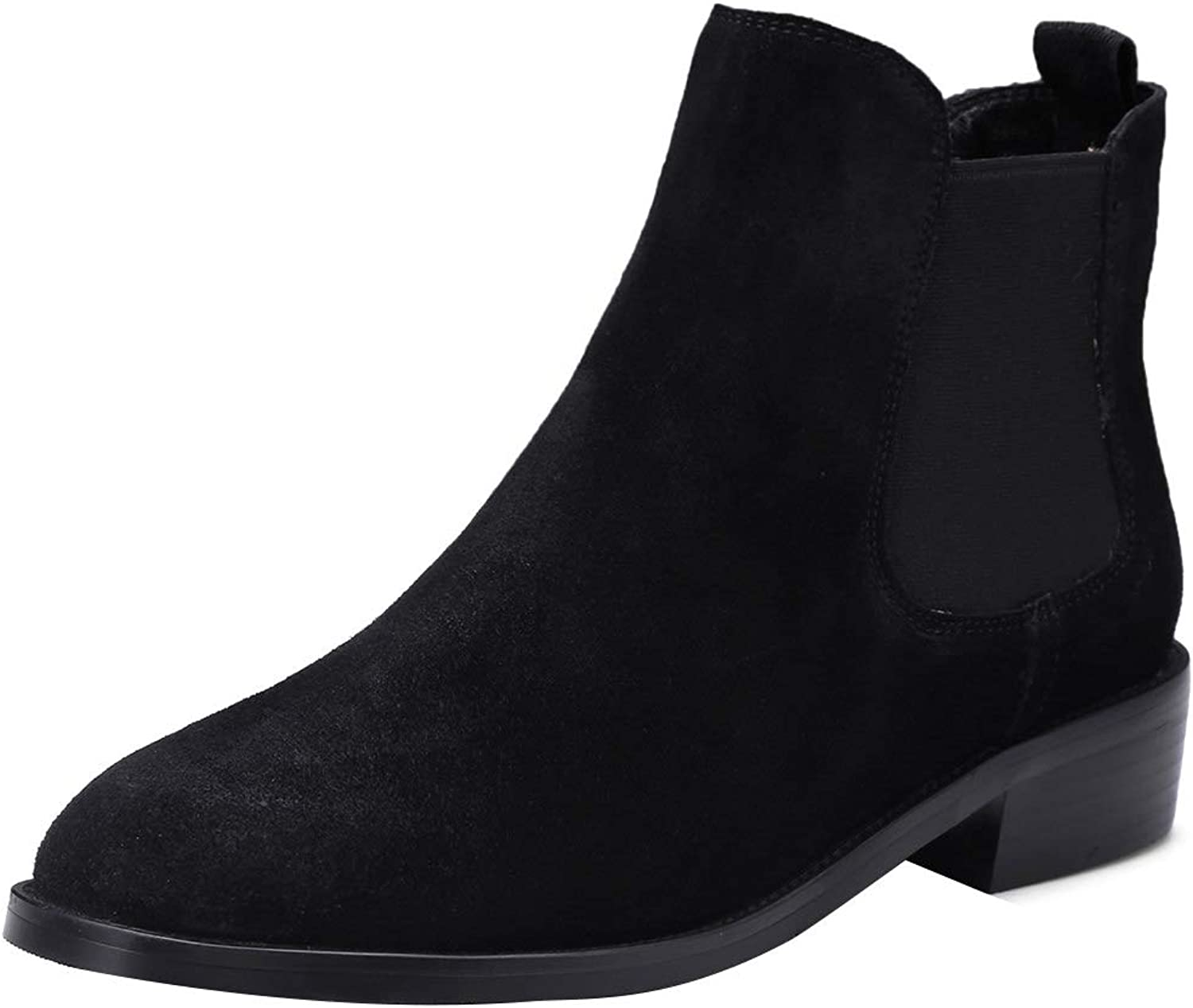 MAYPIE Womens Toacade Leather Slip-on Ankle Boots