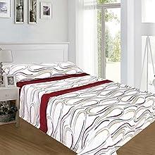 ForenTex - Juegos de sábanas, (AS-4012), Brisa Granate, Cama 90 cm, con Tacto Seda de sedalina, nacarina, de 250 gr/m2, Ultra Suaves, exclusivas.