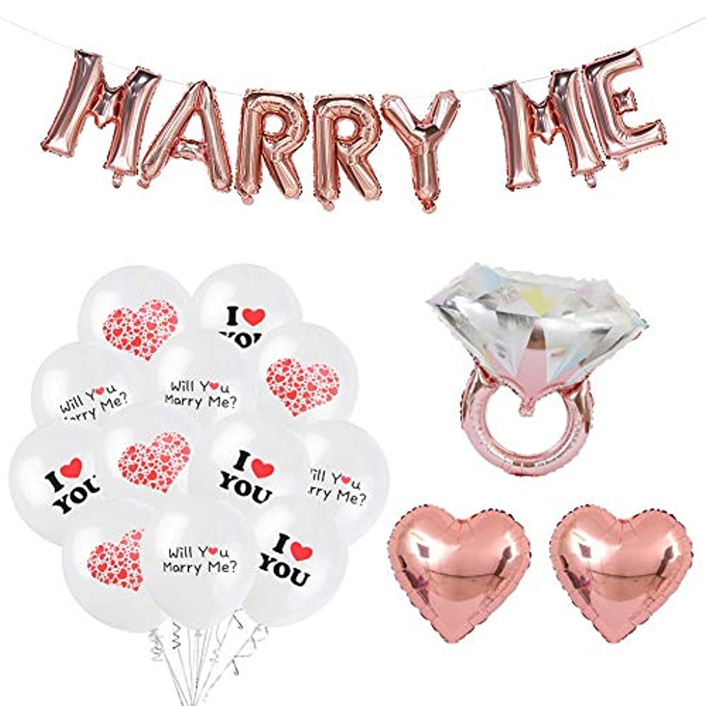 ETLEE Will You Marry Me Decoration Set - Rose Gold 16