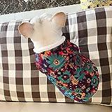XIAOTAO Ropa para Mascotas Bulldog Starling Ropa para Perros gordos Vestido Anual Chaleco de Brocado Forro de visón de Cristal Chaleco Cheongsam Chaqueta de algodón Regalo para Perros y Gatos-S
