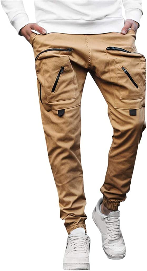 Forthery Workout Running Men's Cotton 8 Po Max 90% OFF Indianapolis Mall Pants Cargo Military