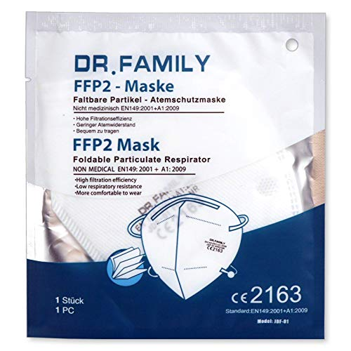 FFP2 Maske, mundschutz Maske, Gesichtsmaske, Einweg, 5/Beutel