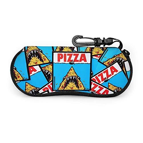 Arvolas Estuche para gafas Pizza Shark Unisex Portátil Neopreno Cremallera Gafas de sol Estuche blando