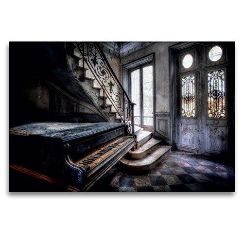 Premium Textil-Leinwand 120 x 80 cm Quer-Format chateau verdure | Wandbild, HD-Bild auf Keilrahmen, Fertigbild auf hochwertigem Vlies, Leinwanddruck von Oliver Jerneizig