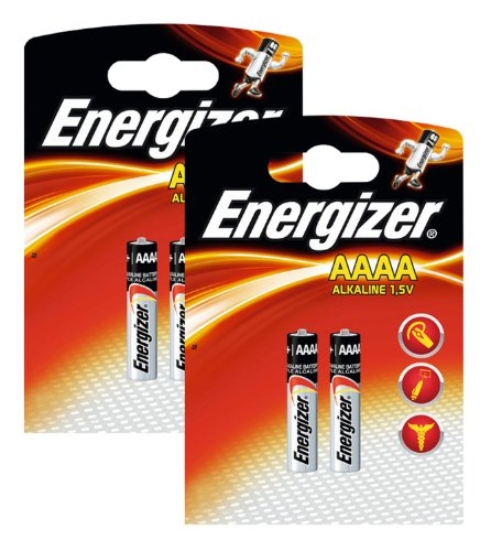 Energizer Original Batterie Ultra Plus Piccolo E96 AAAA (1,5 Volt, 2x 2-er Pack)