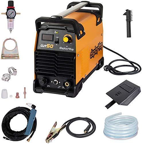Display4top 220V CUT 50 Plasmaschneider LCD-Display, spart Energie und Lärm, hohe Schnittgeschwindigkeit, maximale Schnittstärke: 1-12 mm