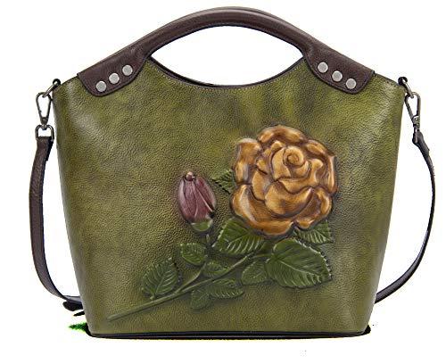 Valrena Genuine Leather Handbag for Women (Light Green)