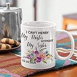 Tamengi Taza de café con texto en inglés «I can't merry my mister without my sister maid of honor», taza de café de la matrona de honor, tazas personalizadas de la propuesta de la boda