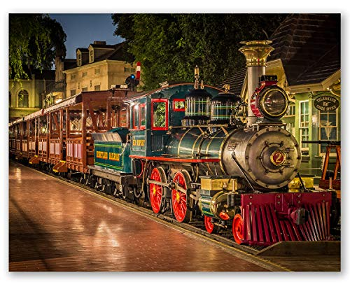 Lone Star Art Disneyland Train E. P. Ripley - Choose Unframed Poster or Canvas - Great Gift and Decor for Disney Fans, Nursery and Children's Room Under $25 (Canvas, 28' x 36')