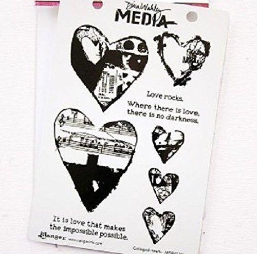 RANGER DINA WAKLEY Love Rocks Stamp & Stencil