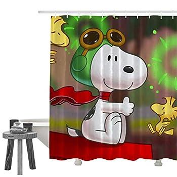 989 SNO-op Dog Xmas Shower Curtain Bathroom Decoration Set
