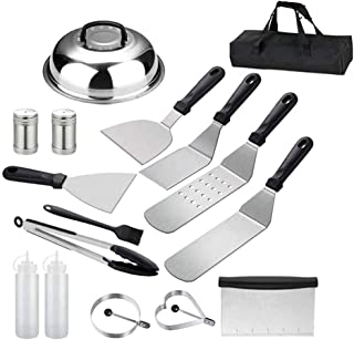 iBingo KSA Griddle Accessories 16PCS Compatible with Blackstone and Camp Chef, Flat Top Griddle Scraper Tool with Melting ...