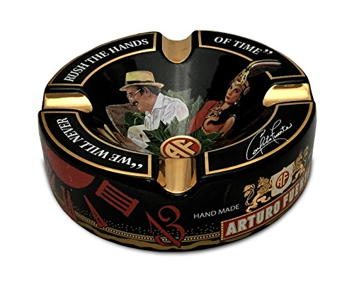 "Limited Edition Large 8.75"" Arturo Fuente Porcelain Cigar Ashtray Black"