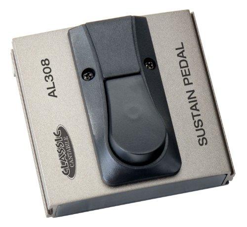 Classic Cantabile AL-308 Fußschalter (Verstärker Umschalter, Fußtaster, Sustain/Drive Pedal, Umschalter Polarität, Klinke mono Anschluss, 94 x 88 x 50 mm)