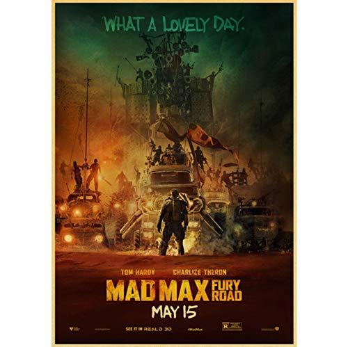 Film Mad Max Fury Straße Tom Hardy Charlize Theron Poster Und Druckt Kunst Leinwand Malerei Poster Für Wohnzimmer Home Decor 50X70Cm No Frame