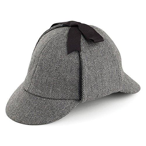 Jaxon & James Sombrero Sherlock Holmes con diseño de Espiga Gris