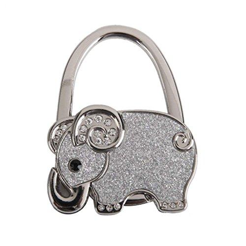 Tabelle faltbare Handtasche Tasche Strass Elefant Kleiderbügel Handtasche Haken Halter