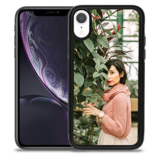 Getsingular Fundas de móvil iPhone XR Personalizadas con Fotos y Texto | Fundas Negras con los Laterales Flexibles para el iPhone XR