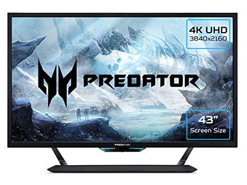 Predator CG437KP Gaming Monitor 42,5 Zoll (108 cm Bildschirm) 4K (UHD),144Hz/136Hz OC DP, 120Hz DP, 60Hz HDMI/TypeC, 1ms (VRB), 3xHDMI 2.0, 2xDP 1.4, GSync Compatible, HDMI VRR