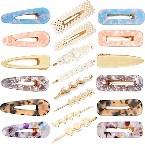 20 Pieces Pearl Hair Barrettes - YiTuo Artificial Hair Clips for Women Girl Hair Accessories Barrettes Decorative Bridal Hair Clips Hair Decoration for Party Wedding Daily