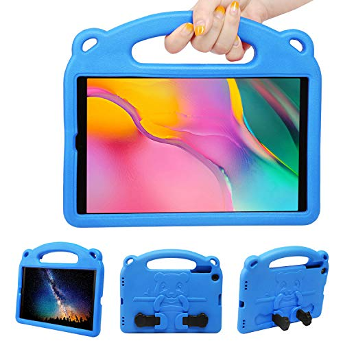NEWSTYLE Funda Anticaída para Samsung Galaxy Tab A 10.1' 2019 (SM-T510/SM-T515),Carcasa Rugosa con Soporte Asa de Mano para Niños Funda para Galaxy Tab A Tablet 10.1' 2019 (Azul)