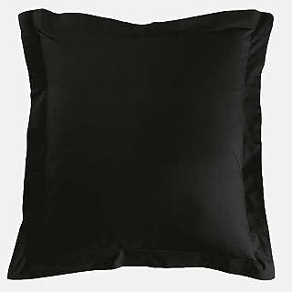 Taie Oreiller 65x65 cm Noir 100% Coton 57 Fils Lot de 1