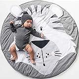 Baby Krabbeldecke, Spiel Matten Baumwolle, faltbare baby bodenmatte, Spielmatte Baby Geruchlos, Baby Teppich, Baumwolle Weiche Schlafteppich, Cartoon Baby Spielmatte,Cartoon-Tier-Teppich(Tiger)