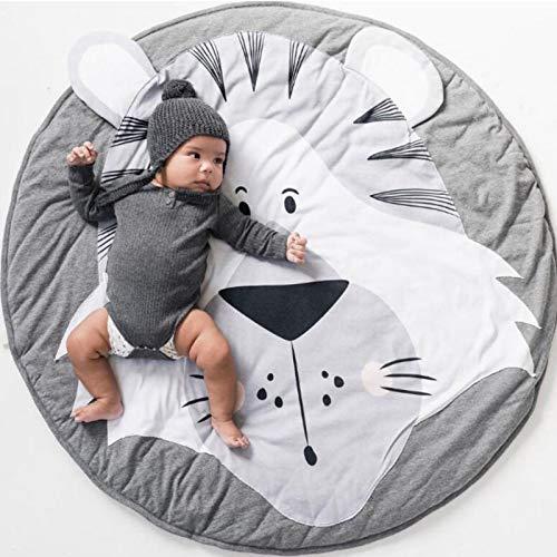 Alfombrilla de juego para bebés, Alfombrillas para bebé unisex, suave cálido grueso acolchado, Estera de Arrastre para bebé, Patrón de Dibujos Animados Alfombras (Tigre)
