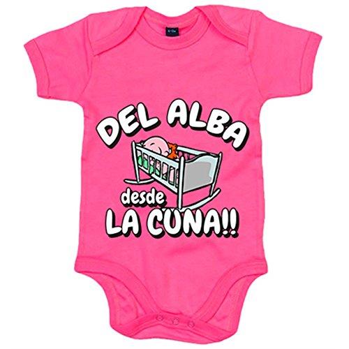 Body bebé del Alba desde la cuna Albacete fútbol - Rosa, 12-18 meses