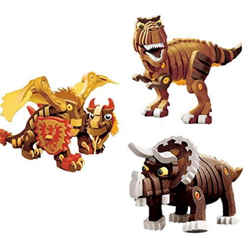 Amyove Juguetes de la asamblea de DIY del Padre-niño de la Historieta del Estilo del Dinosaurio de la Historieta 3D para los niños Dragón Bastardo - 355 unids