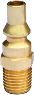 Stanbroil Propane Brass Quick Connect Fitting Adapter- Full Flow Male Plug x 1/4