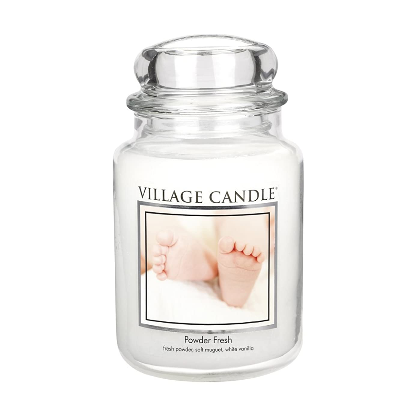 本部ウェーハ駐地Village Candle Scented Large Jar 26oz - POWDER FRESH by Village Candle