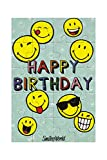 BSB Geburtstagskarte Geburtstagsgrüße Geburtstagswünsche - Collage - Puzzle-Karte Smiley - Umschlag weiss, 510961-2