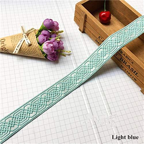 Huien gordijn Kantlint Trim Gordijnaccessoires Decoratieve kussenrand Kleding Sofa kanten riem DIY naaien, lichtblauw