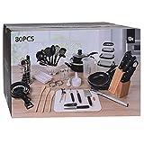 Küchen-Starter-Set, 80-teilig,Erstausstattung für Küche, Küchenutensilien